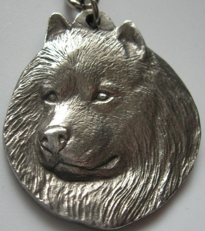 Spitz Keychain Vintage 1982 Rawcliffe Pewter Key Ring P Davis I Love My Dog