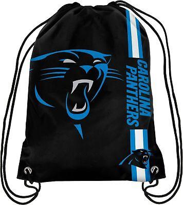 Carolina Panthers NFL Drawstring Big Logo Backpack Backsack - Carolina Panthers Backpack