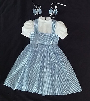 Wizard of Oz Dorothy inspired Child Costume Dress Toddler Size 3-8 years old (Wizard Of Oz Toddler Costumes)