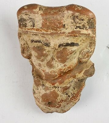 ANTIQUE AZTEC CLAY POTTERY FIGURINE  4