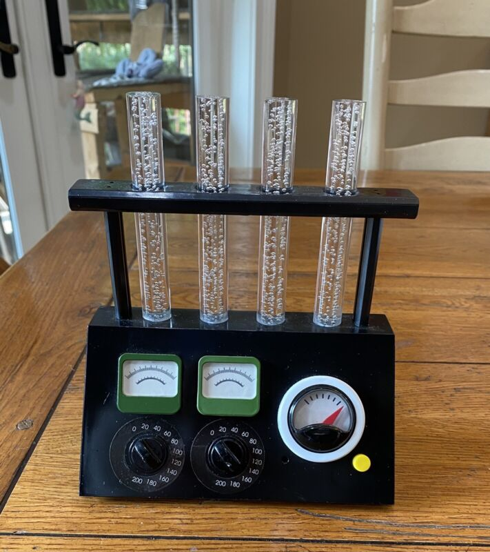 GEMMY Halloween Prop ~ ANIMATED Lighted BUBBLING TEST TUBES SCIENCE LAB EXPERIME