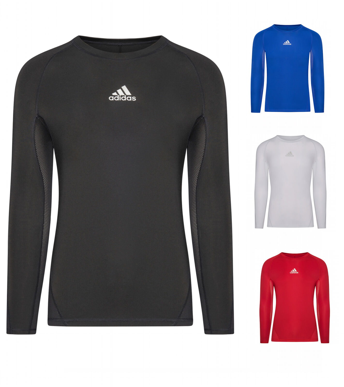 Adidas Herren Alphaskin langarm T-Shirt Sport Fußball Kompression longsleeve