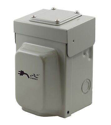 30 Amp Locking Inlet Box Nema L14-30p By Ac Works