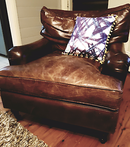 Leather Arm Chair Shellharbour Shellharbour Area Preview