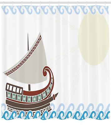 Toga Party Pattern Shower Curtain Fabric Decor Set with Hooks 4 Sizes