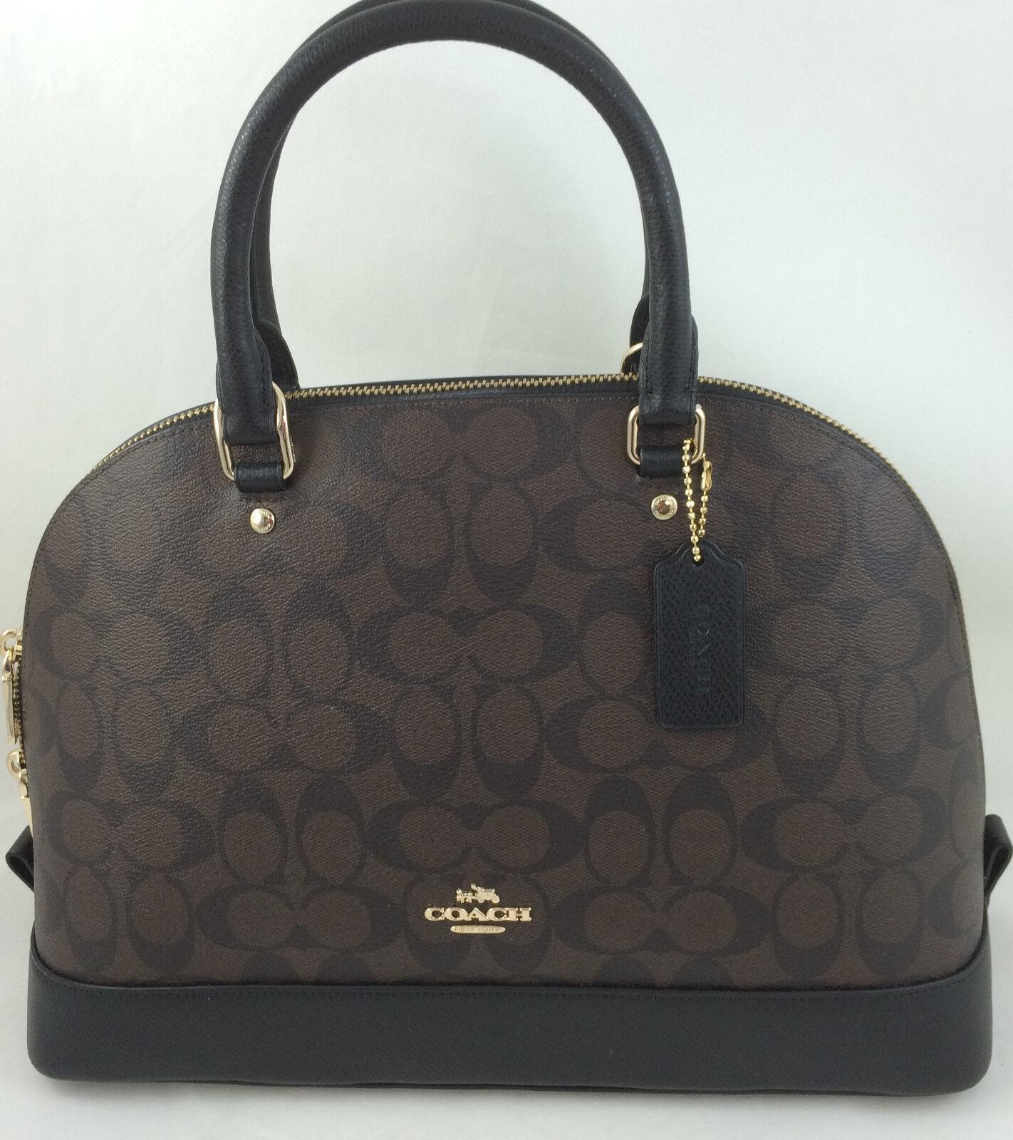 New Authentic Coach F27584 Sierra Signature Dome Satchel Handbag Purse Brown