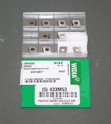 10 Widia Diamond Turning Insert 4170466 Ccmw 322 Positive Rake 4 Edge P K