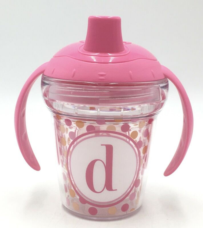 "My First Tervis Sippy Cup **NEW**  Pink with ""D"" initial"