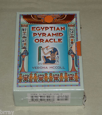 **OOP NEW & SEALED** Egyptian Pyramid Oracle Book & Card Set Verona McColl-tarot