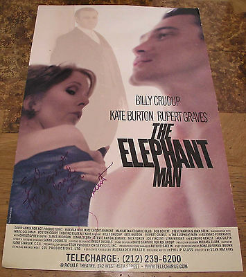 The ELEPHANT Man poster Billy Crudup, Rupert Graves, Kate Burton. 2002  Signed