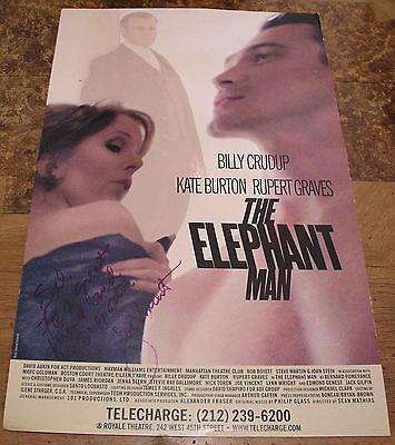 The ELEPHANT Man poster Billy Crudup, Rupert Graves, Kate Burton. 2002  Signed