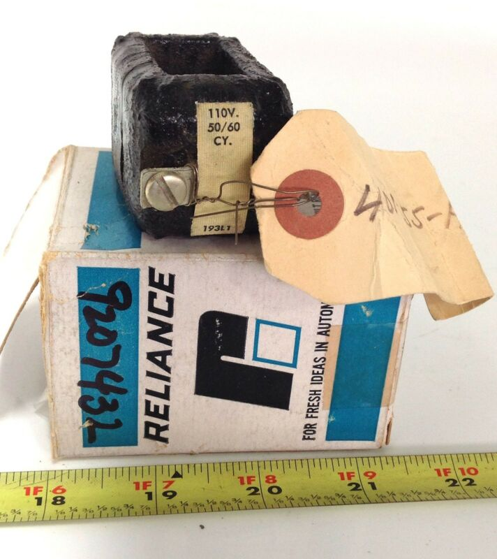 RELIANCE ELECTRIC 110V COIL TRANSFORMER 50/60 CY 193L1 *PZB*