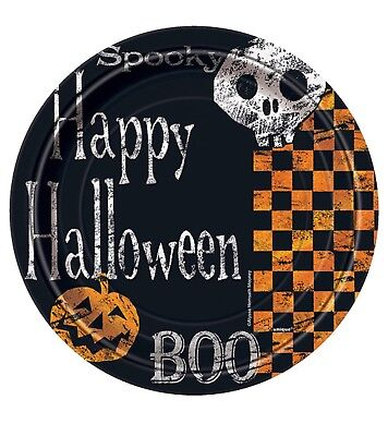 8 CHECKERED HALLOWEEN Party Supplies Small 7