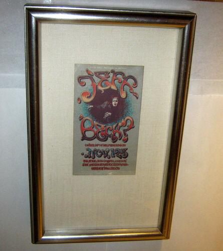 Vintage 1968 ORIGINAL Grande Ballroom JEFF BECK HANDBILL Framed