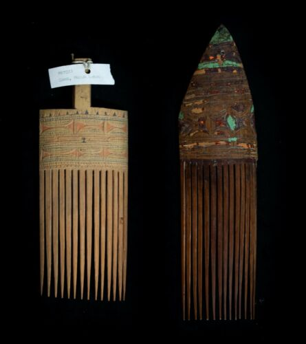 2 New Guinea Combs 1940s and 1960s
