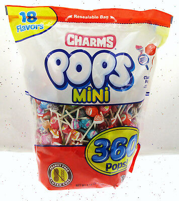 18 Flavors ~ Charms Pops Mini 360 count Miniatures Sucker Candy - Charms Suckers