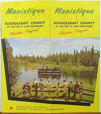 1970's Manistique Michigan Schoolcraft County vintage travel brochure