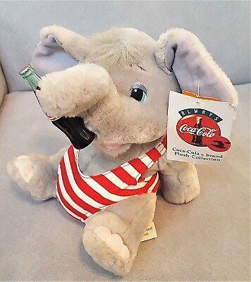 "8"" Always Coca-Cola 1993 ELEPHANT PLUSH red/white striped Bathing Suit w/TAG"