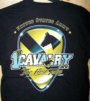 1st Cavalry First Team T-shirt - US Army 1st Cavalry First Team T-Shirt-7.62 Design Men's Size M L-FREE Shipping
