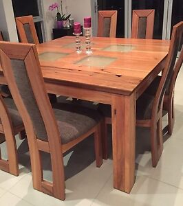 Marri Wood Chairs and Table Hillarys Joondalup Area Preview