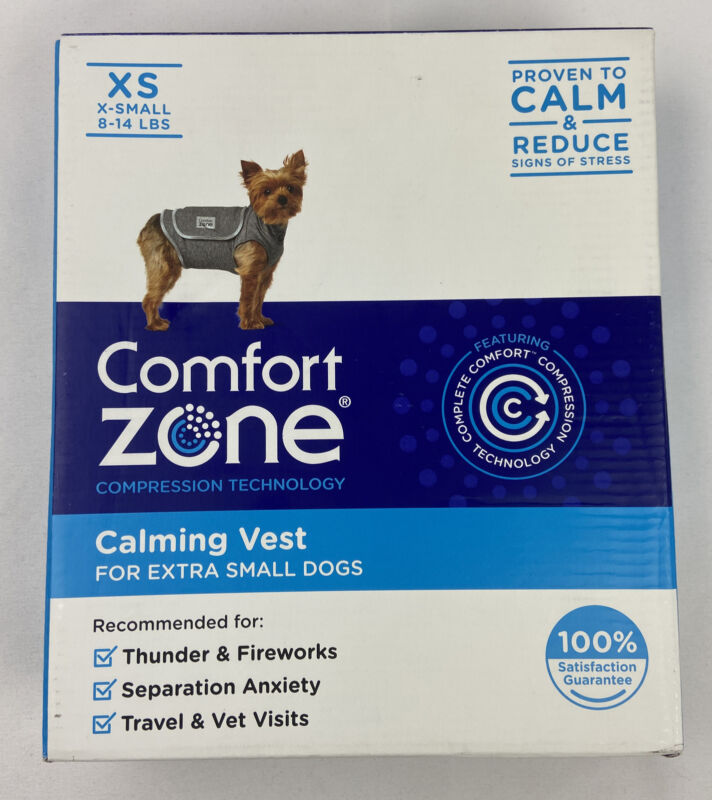Comfort Zone Calming Vest Dogs Extra Small Thunder Anxiety Travel Anxiety NEW