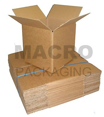10 Cardboard Packaging Postal Boxes/Cartons 4 x 4 x 4