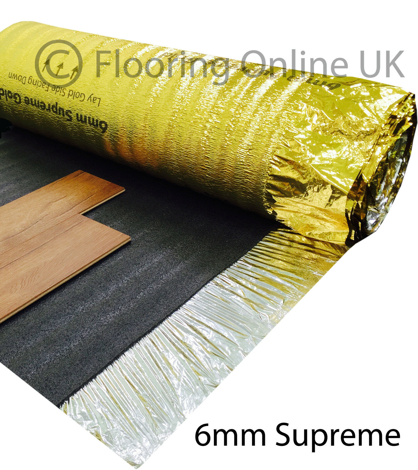 5mm Or 6mm Gold Underlay Wood Laminate Flooring Acoustic Heat Insulation
