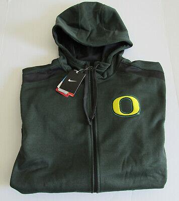 $95 NIke Oregon Ducks Therma Fit Zip Hoodie Green-Gray Shoulder NWT Size Small Nike Oregon Ducks