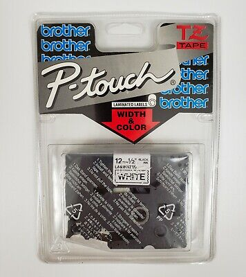 Brother P-touch Tz231 12 12mm X 26.2ft 8m Black Ink On White Tape - New