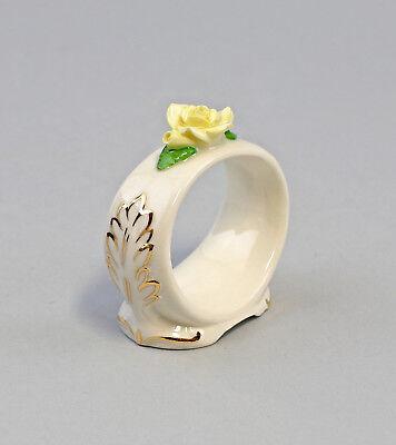 9959385 Porzellan 1 Serviettenring gelb Rose gold Ens/ErnstBohne 6x2,5x6cm
