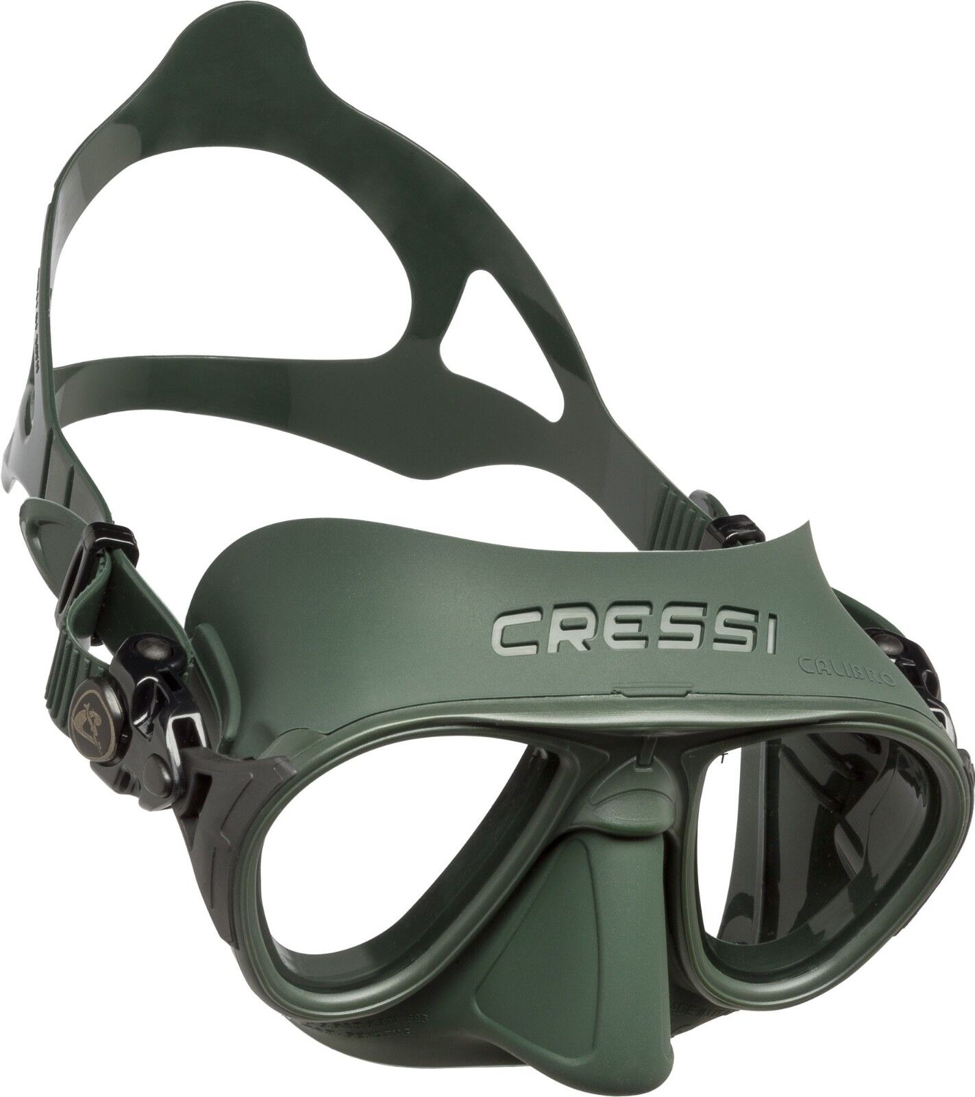 Calibro Cressi Maske One Size Green / Tauchmaske / Brille / Schnorcheln / Apnoe