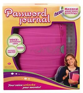 GIRL TECH PASSWORD JOURNAL 8 ELECTRONIC DIARY VOICE ACTIVATED LOCK NEW