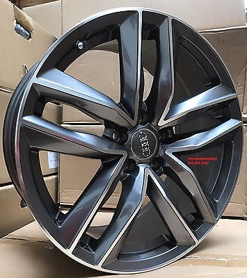 19'' AUDI S4 RS6 REPLICA FITS A4 A8 A6 S6 WHEELS RIMS TIRES GUNMETAL GREY (4)