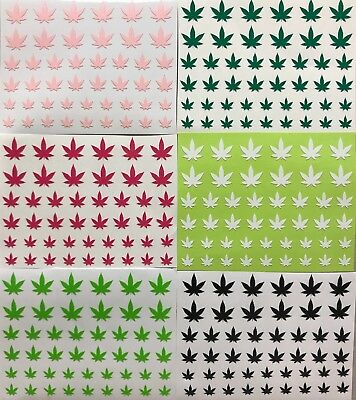 Nail Art 3D Decal Adhesive Stickers Pot Weed Marijuana Leaf Cannabis 420