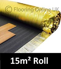 15m2 Roll - Sonic Gold 5mm - Acoustic Underlay For Wood or Laminate Flooring
