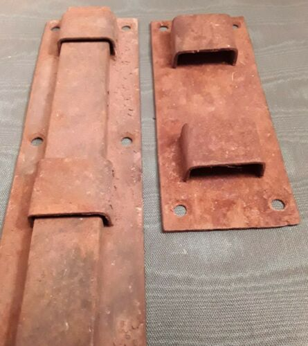 "Antique/Vintage Large 18"" Iron Slide Bar Latch House, Barn, Gate, Restoration"