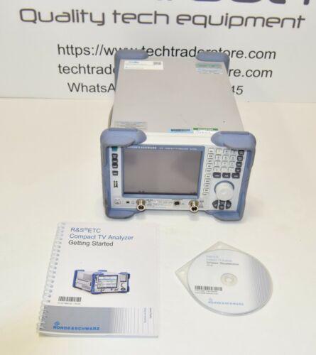 Rohde & Schwarz ETC Compact TV Analyzer with Options (Last calibration 07/2020)