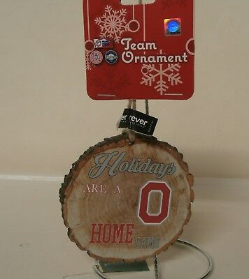 Holidays are a Home Game Ornament - Ohio State Buckeyes Block O New with Tag d1a Buckeyes Home Game