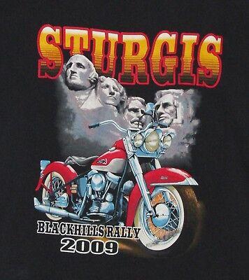 Tee Shirt, Sturgis South Dakota Black Hills Rally, 2009, Black, Large - Tee South Dakota