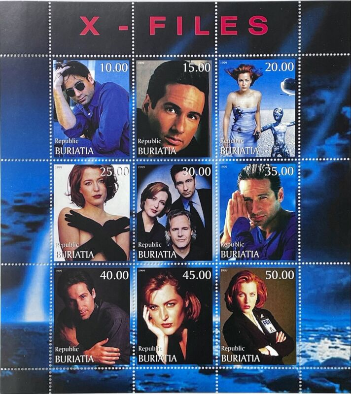 X-FILES STAMPS 1999 MNH SCI-FI SCIENCE FICTION PRIVATE ISSUE DUCHOVNY ANDERSON b