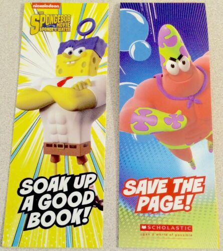 5-Pack of SpongeBob SquarePants + Patrick Star 4-Sided Activity Bookmarks, Movie