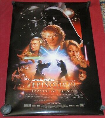 Star Wars Episode III Revenge of the Sith Movie Poster 27x40 D/S NEW   Original