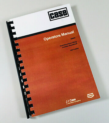 Case 580g Loader Backhoe Operators Owners Manual Maintenance Tractor Book