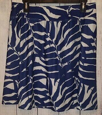 Womens West Marine Paradise Palm Stretchy Skirt Size XL Navy Blue Cream NWT!