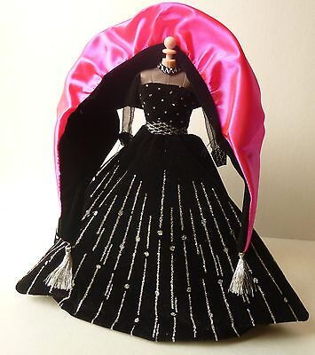 Integrity, Model muse,Genuine Barbie Black and Pink Gown with Silver Detailing on Rummage