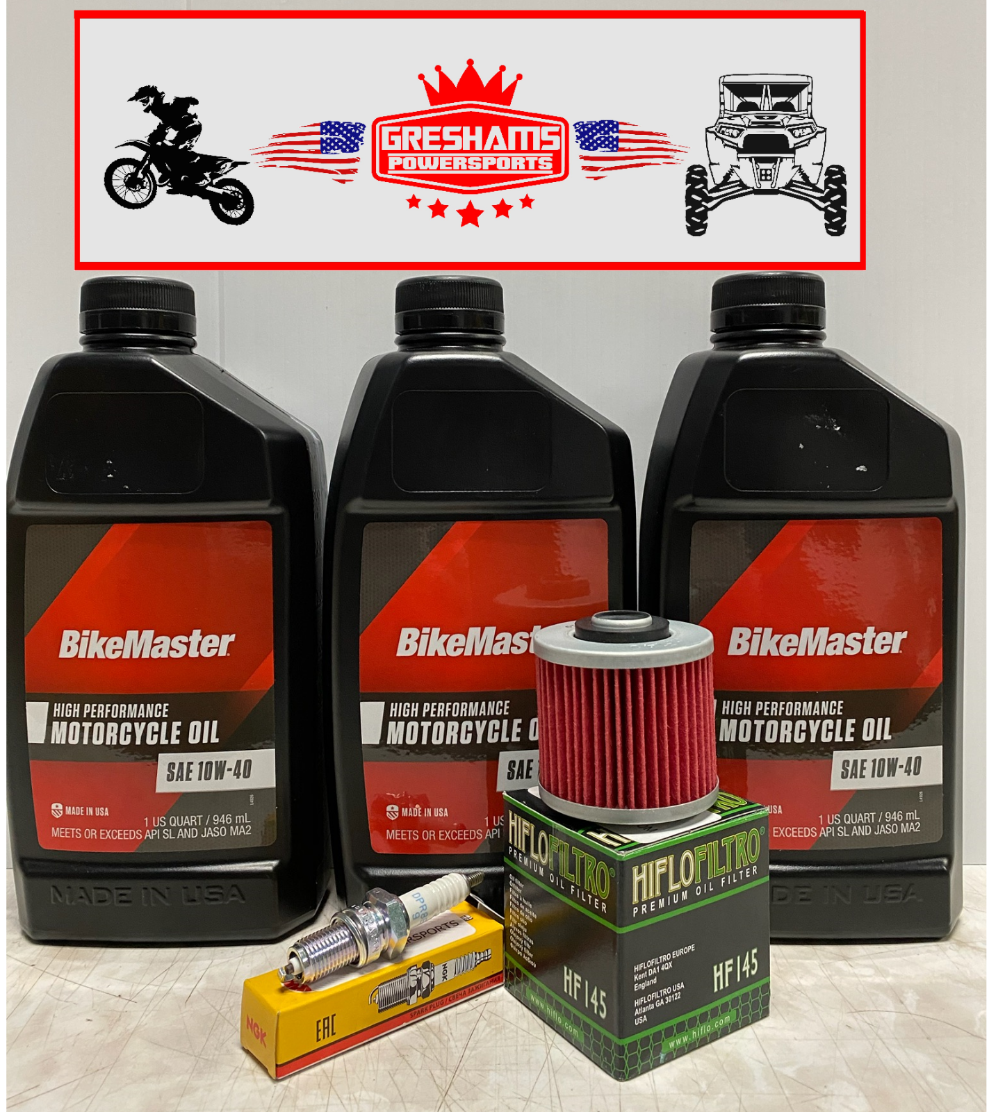 Yamaha Tune up Kit Grizzly 600 YFM600 YFM Oil Air Filter Spark Plug 1998-2001