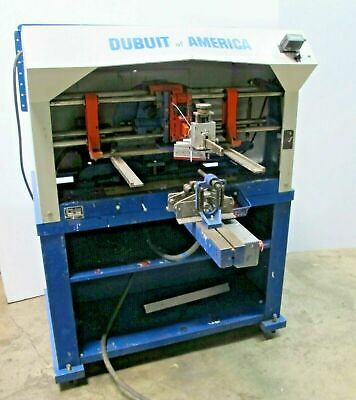 Dubuit Of America Model D-150 Screen Printing Press Round Glass Made In Usa