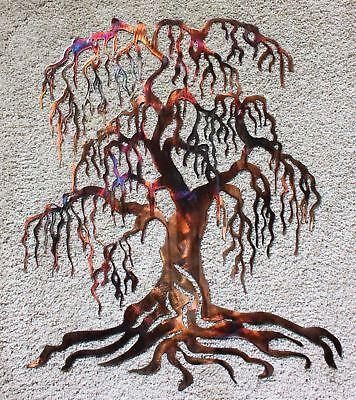 Weeping Willow Metal Wall Art Tree 24