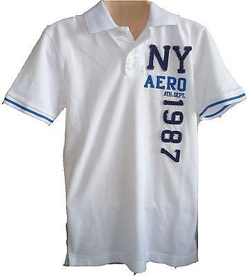 Mens Aeropostale Aero Ny87 Patch Piqué Polo Shirt 2436