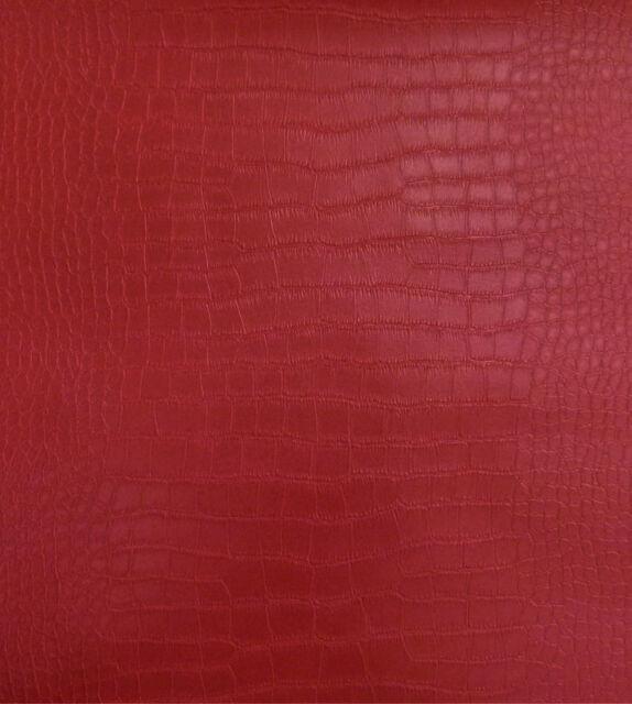 6651-26) 1 Rolle dicke Design Vlies Tapete Krokodil Lederoptik rot